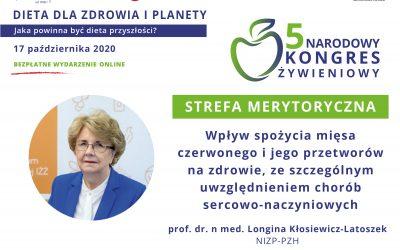 Wpływ spożycia mięsa czerwonego (…) nazdrowie – prof.Longina Kłosiewicz-Latoszek