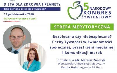 Cechy żywności wkomunikacji marek – drhab. n. ozdr. Mariusz Panczyk, Emilia Hahn