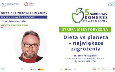 Dieta vs planeta – największe zagrożenia – drJacek Postupolski